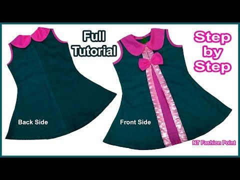 603b91f28aaa DIY New Found Designer Girls Baby Frock Cutting and Stitching Full ...