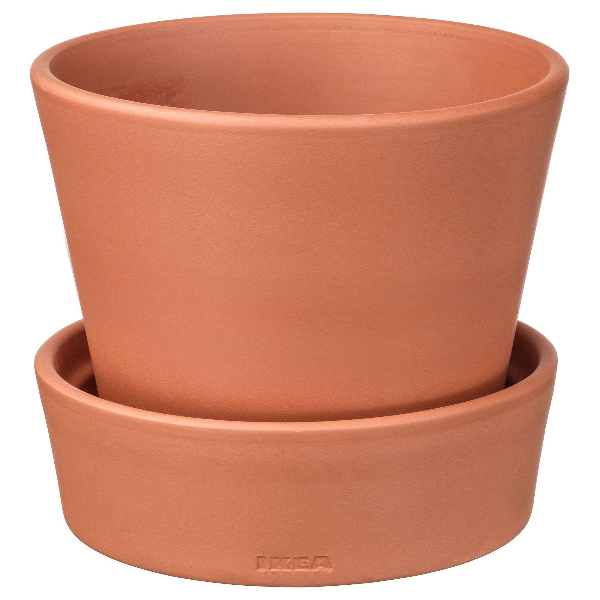Ingefara Plant Pot With Saucer Outdoor Indoor Outdoor Terracotta 4 Terracotta Plant Pots Potted Plants Flower Pot Design