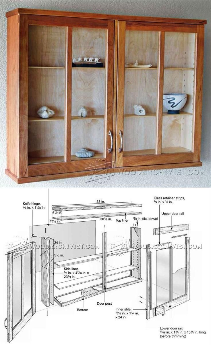 Cherry Display Cabinet Plans Furniture Plans And Projects Woodarchivist Com Cabinet Woodworking Plans Woodworking Furniture Plans Cabinet Plans