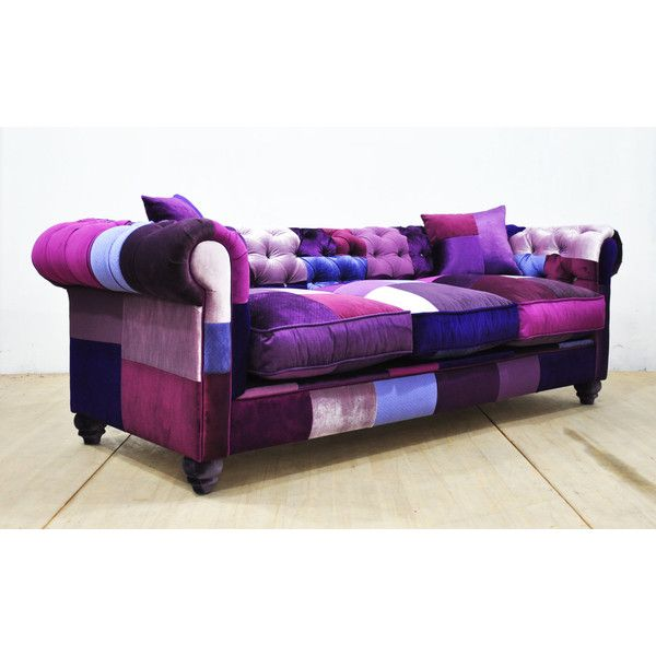 Chesterfield Patchwork Sofa Purple Love 3 950 Liked On