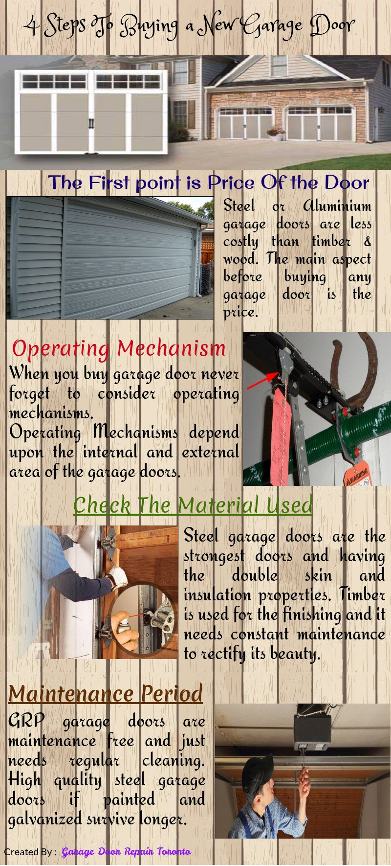 When You Install A New Garage Doors Few Things You Should Have To