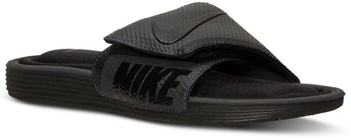 b4ec768f0 Nike Men s Solarsoft Comfort Slide Sandals from Finish Line - Black ...
