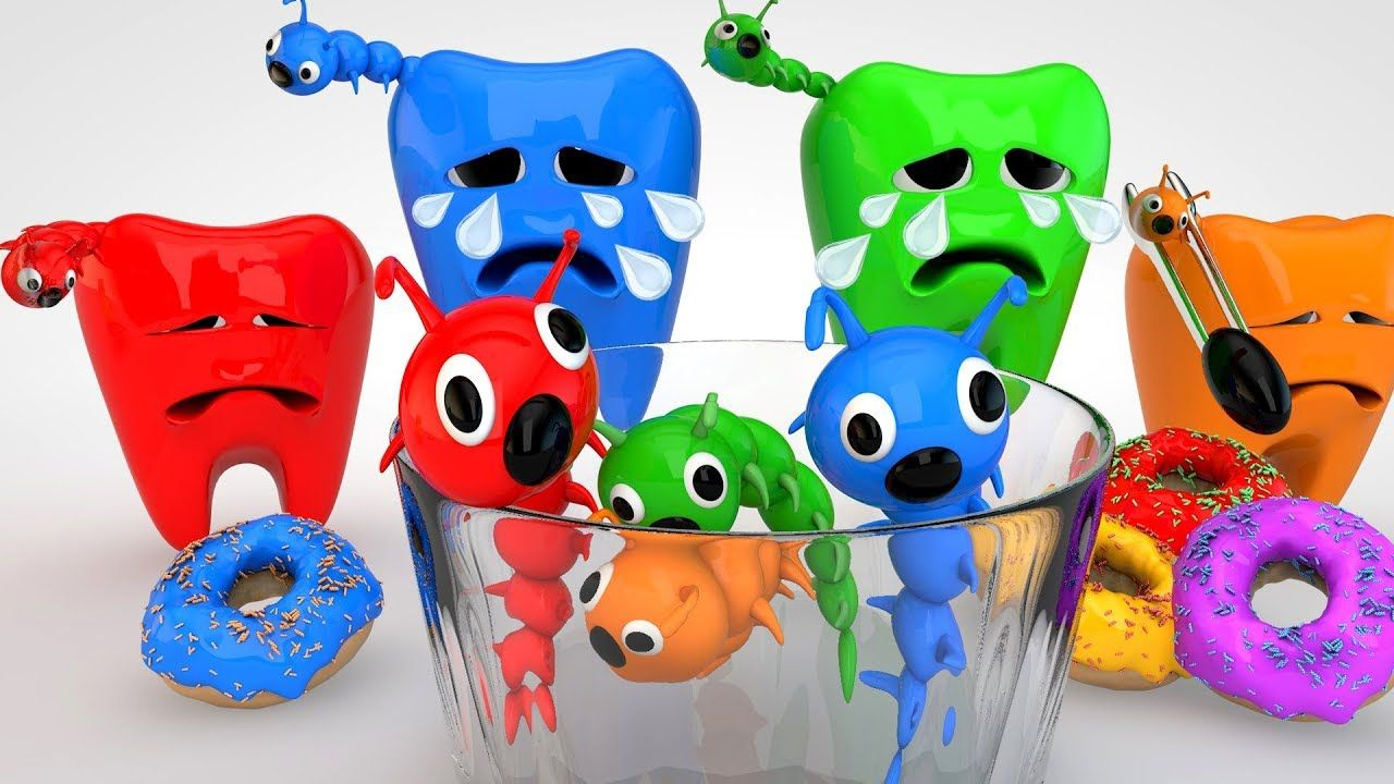 Learn Colors for Kids w Dental Caries and Eggs Doctor Examined Tooth