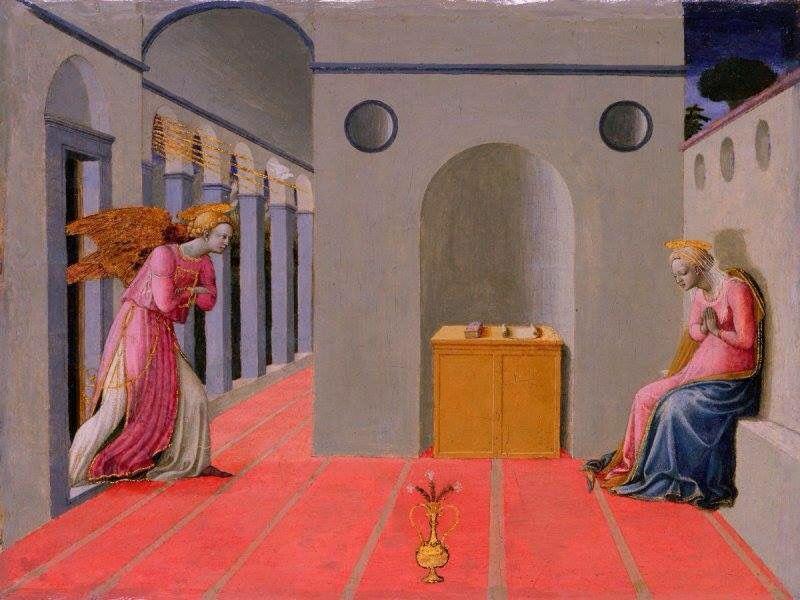 Fra Carnevale ? Master of the Lanckoronski Annunciation, Annonciation Lanckoronski, 1445-1450, tempera, San Francisco , Museum of the Legion of Honor