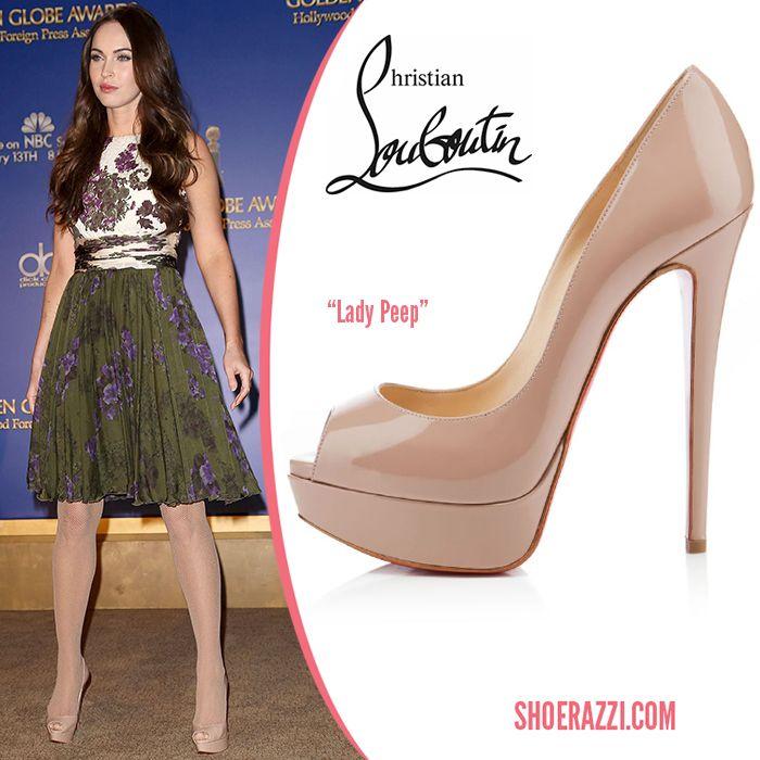 promo code 3294c e0f29 Megan Fox wore Christian Louboutin Lady Peep platform pumps ...