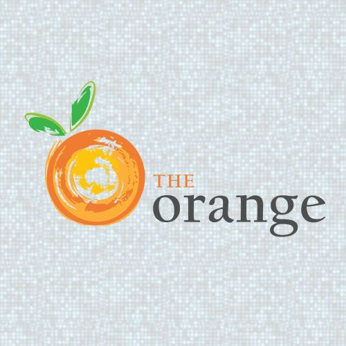 An Abstract Orange Fruit Logo Made In A Quick Brush