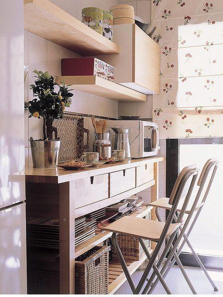 Un office en cocinas mini | barra desayunador | Pinterest | Kitchen ...