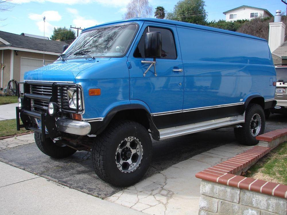 1972 Chevrolet G20 Van Custom Vans Cool Vans 4x4 Van