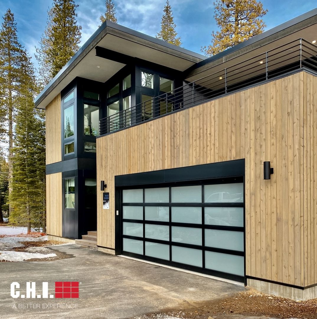 Full View Aluminum Garage Door On Contemporary Modern Home In 2020