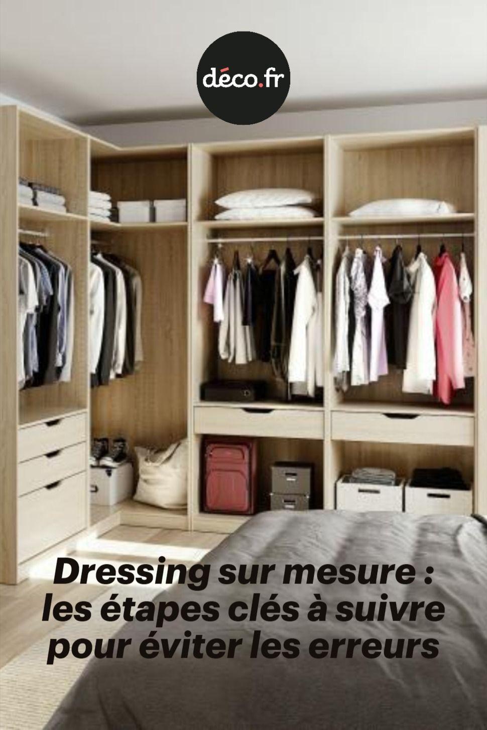 Dressing Sur Mesure Les Etapes Cles A Suivre Pour Eviter Les Erreurs Avec Images Solutions De Rangement Dressing Decoration Dressing