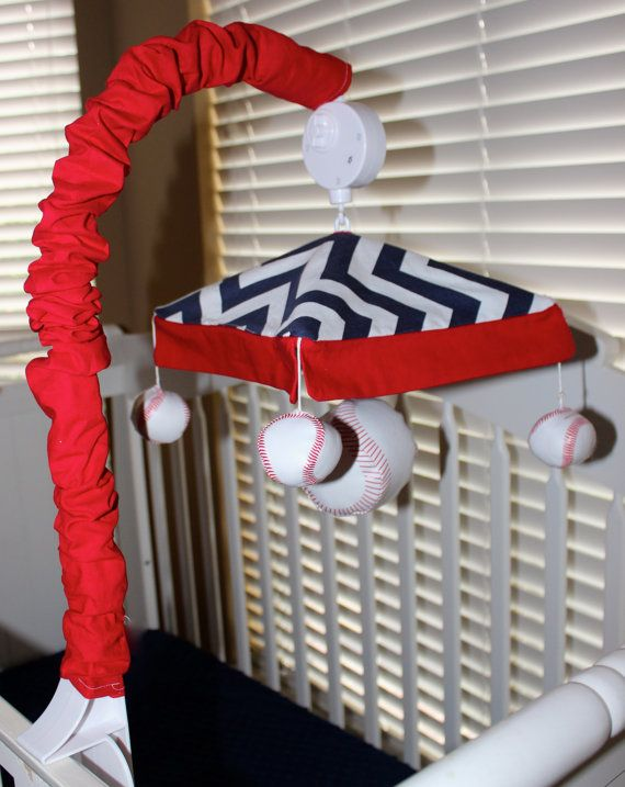 Baseball Musical Crib Mobile Sport Themed Baby By BabiesNBaubles