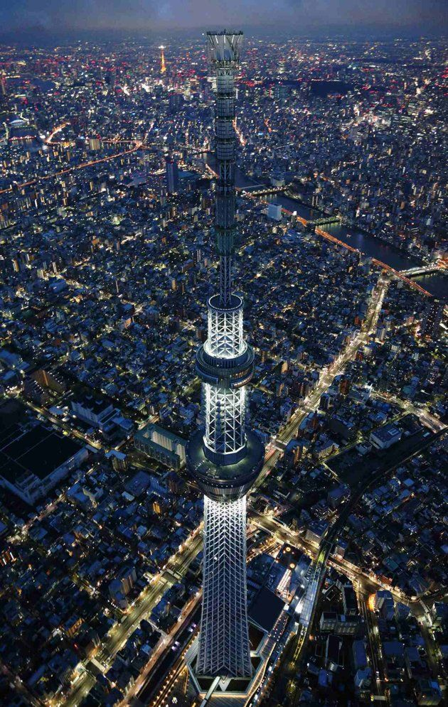 A view of Tokyo Skytree, the world's tallest broadcasting tower at 634 metres (2080 feet), in Tokyo.