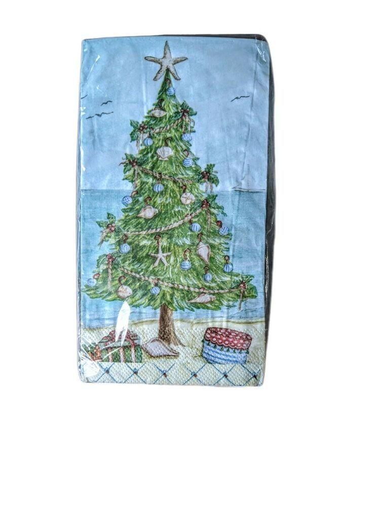 Coastal Christmas Tree Paper Guest Hand Towels Napkins 20 Pk Nantucket Christmas Christmasparty Coas Guest Hand Towels Paper Guest Hand Towels Hand Towels