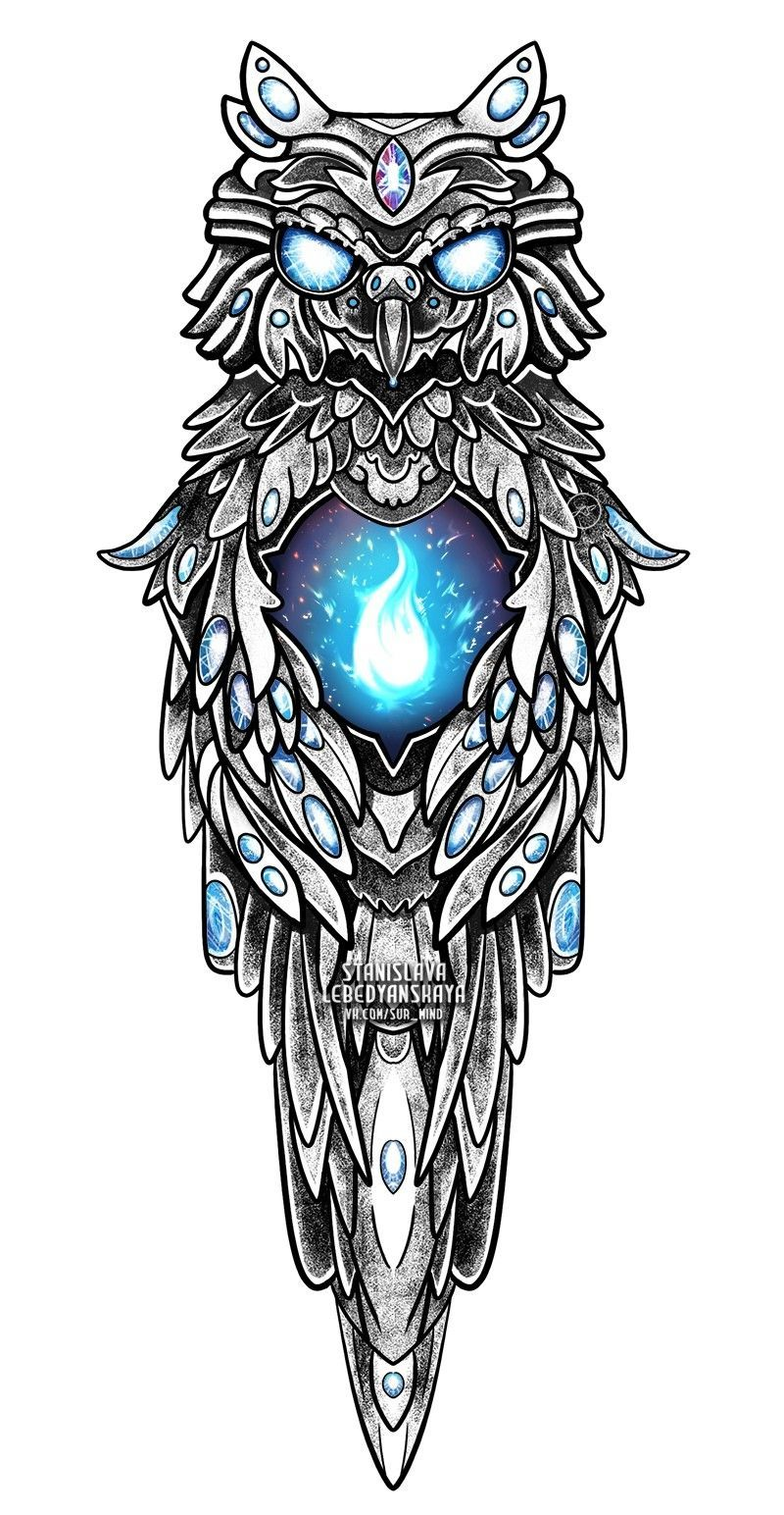 Blaue Eule In 2020 Owl Tattoo Drawings Sketch Tattoo Design Tattoo Drawings