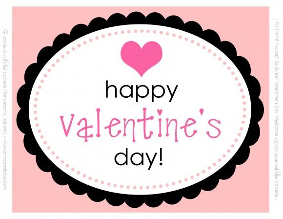 Free Valentine S Day Party Printables From Anna And Blue Paperie Valentines Birthday Party Valentines Day Party Valentine S Day Printables