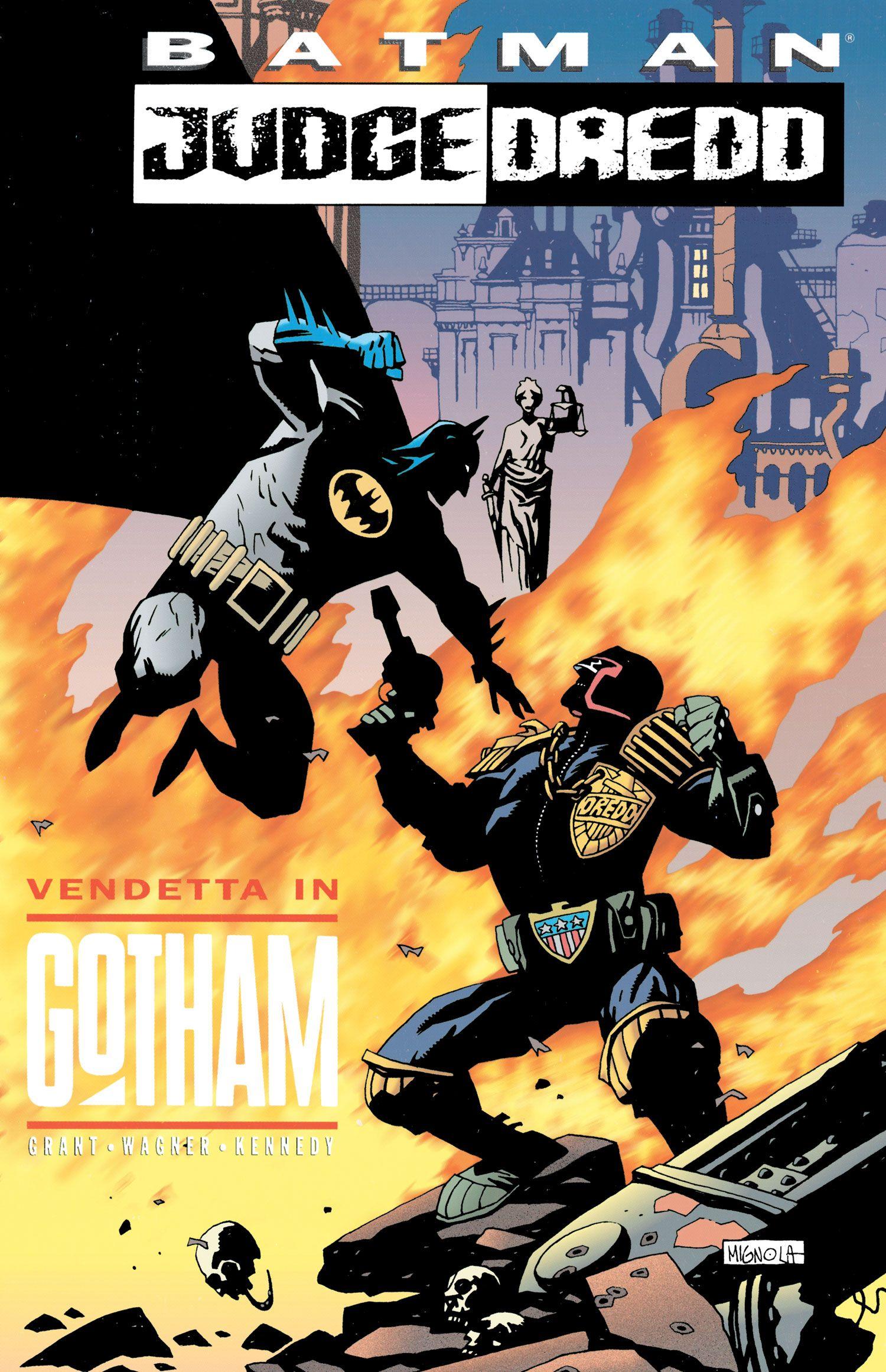 Judge Dredd Comic | Batman vs. Judge Dredd by Mike Mignola | Comic Book Characters