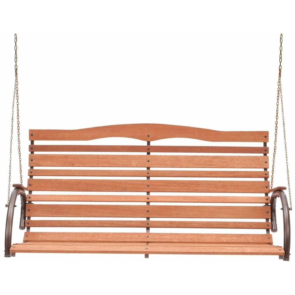 Jack Post Country Garden Natural Wood High Back Patio Swing Seat Assembly Required Cg 05z The Home Depot Patio Swing Porch Swing Garden Swing Seat