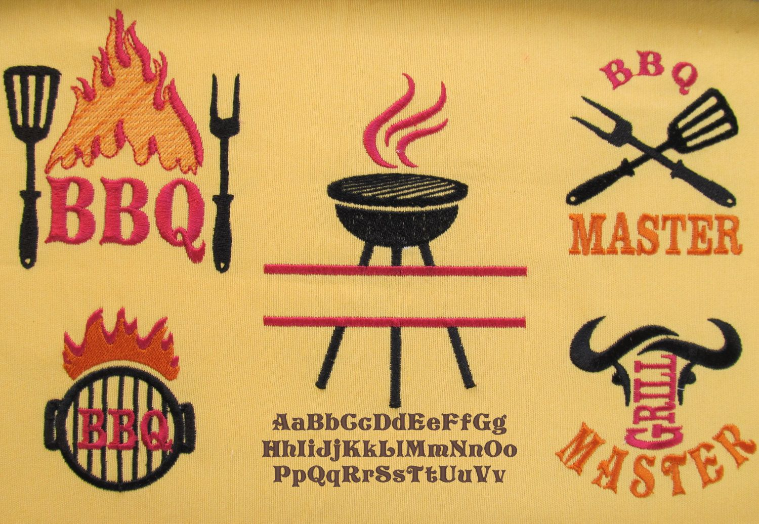 Bbq Grill Embroidery Designs Www Topsimages Com