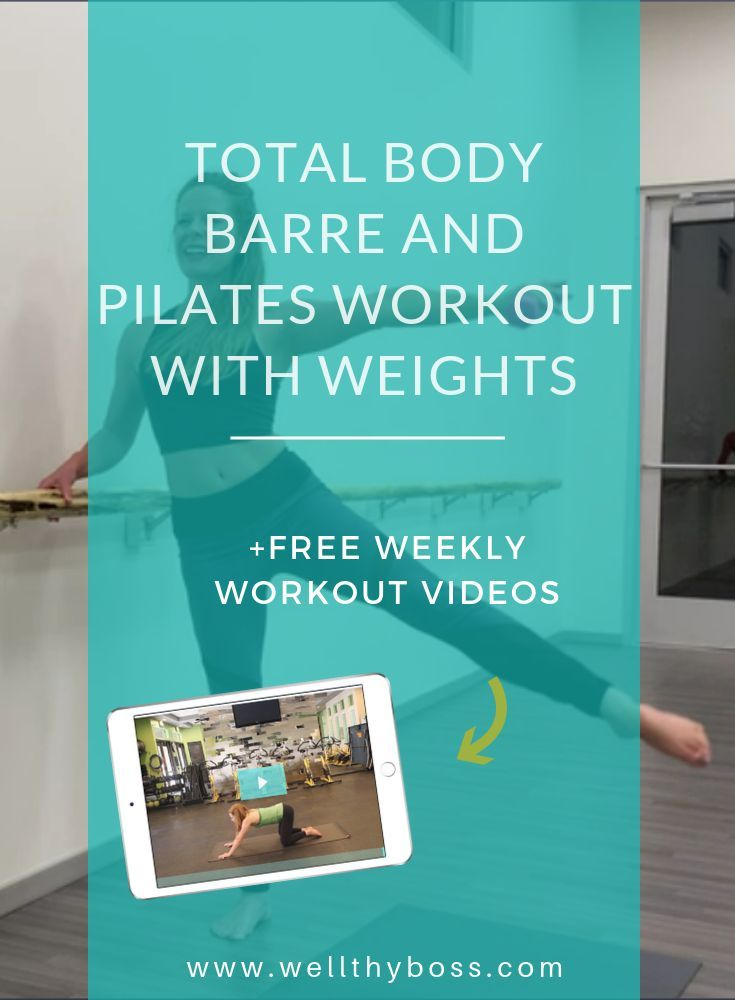 Total Body Barre and Pilates Workout with Weights #pilatesworkoutvideos
