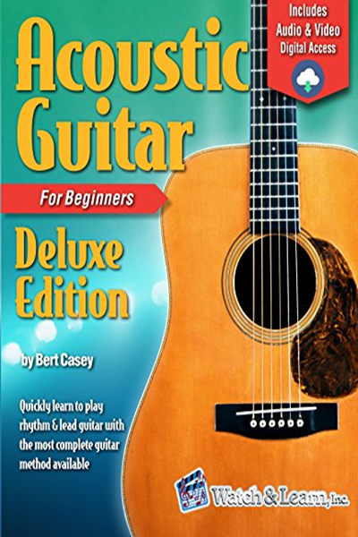 Acoustic Guitar Primer Book For Beginners Deluxe Edition Audio Video Access By Bert Casey Watch Learn Inc Acoustic Guitar Lessons Guitar Lessons For Beginners Guitar Books