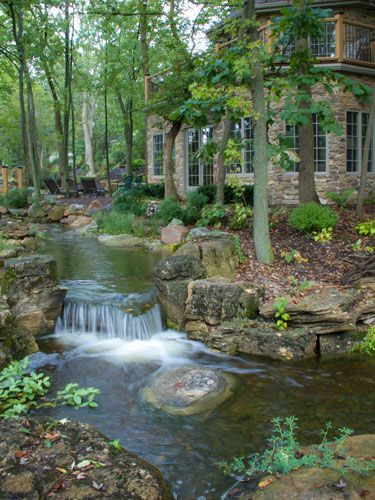 This is what a million dollar backyard pond looks like for Build your own waterfall pond