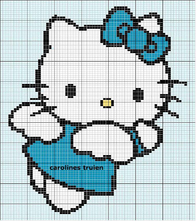 Hello Kitty cross stitch | PUNTO DE CRUZ | Pinterest | Punto de cruz ...