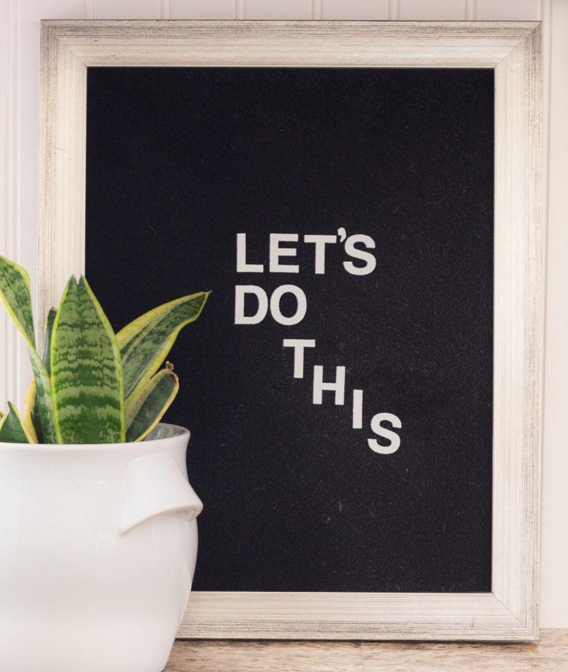 How to Make a Felt Letter Board for Under $10 | DIY Ideas | Felt