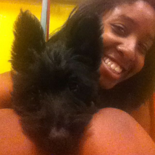 Me and the Scottish Terrier puppy!