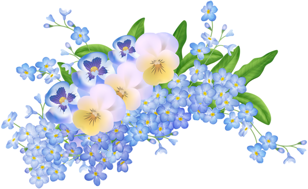 Spring Flowers Decoration Transparent PNG Clip Art Image ...