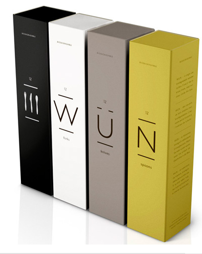 Tall boxes with simple type.