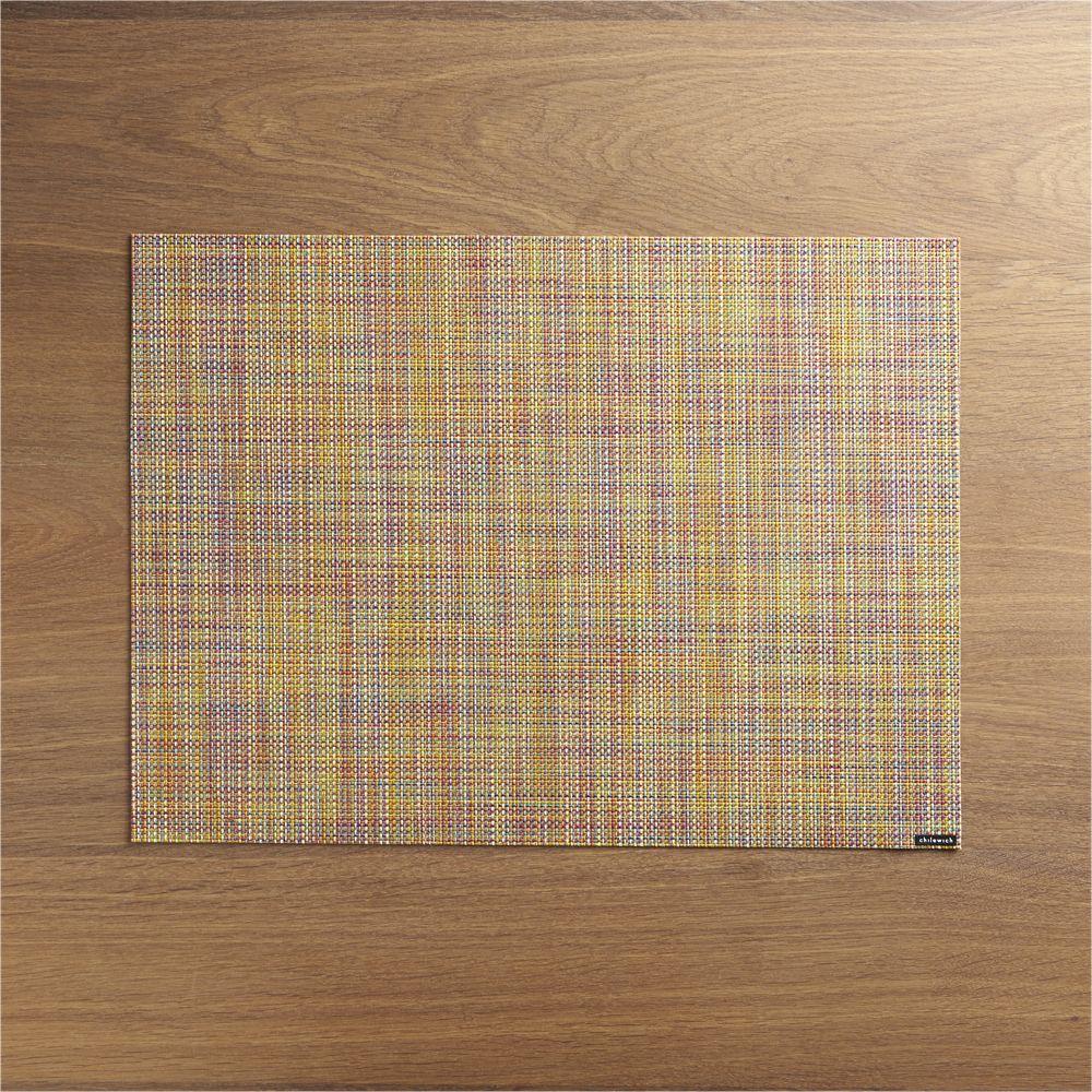 Chilewich Mini Basketweave Confetti Vinyl Placemat Placemats Linen Placemats Crate And Barrel
