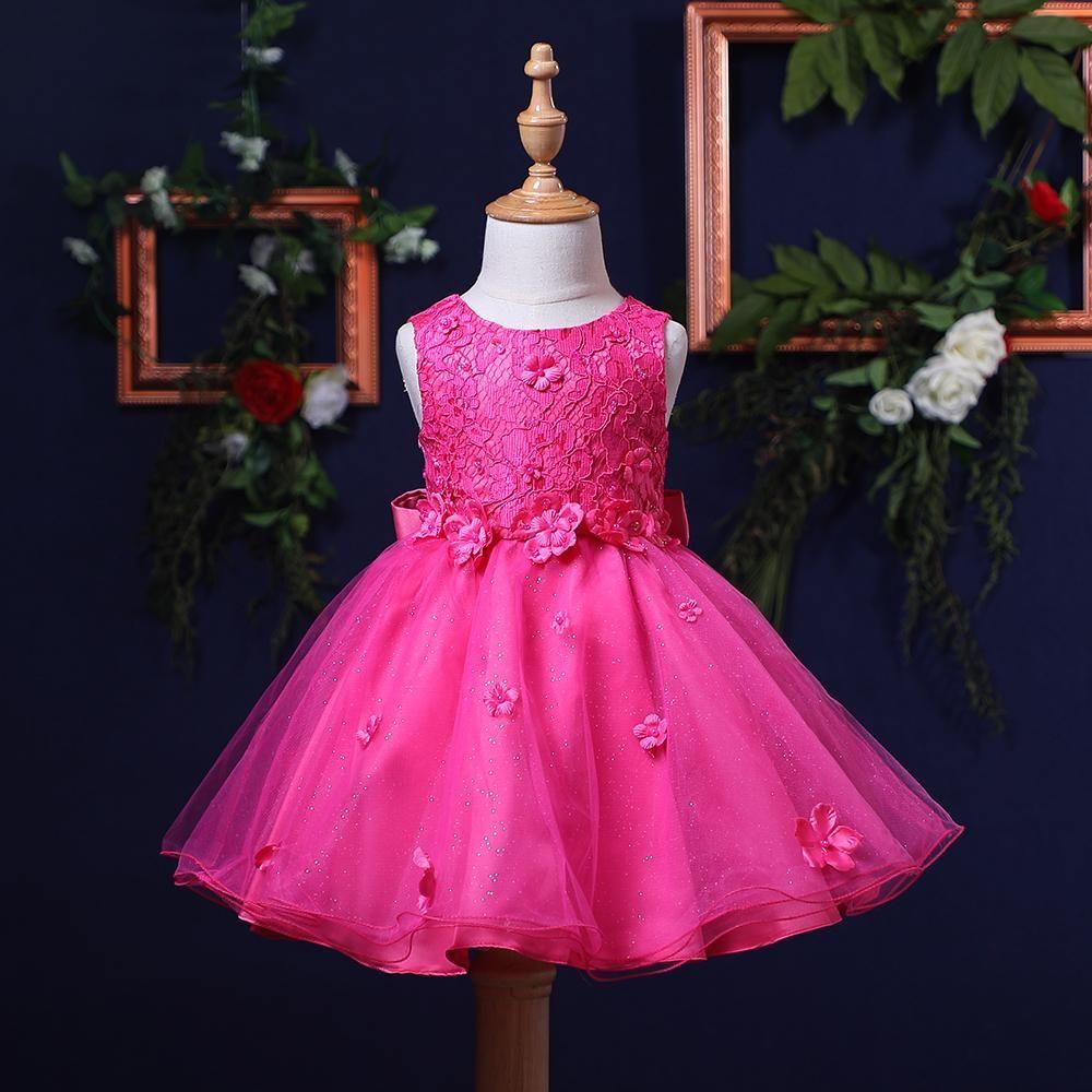 d0481f155cb16a Hopscotch - Si Rosa - Classy Lace Party Dress - Fuschia