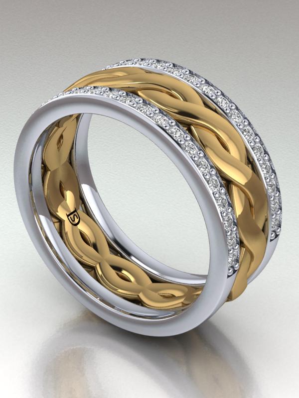 Braided Diamond Wedding Ring Wedding rings, Diamond