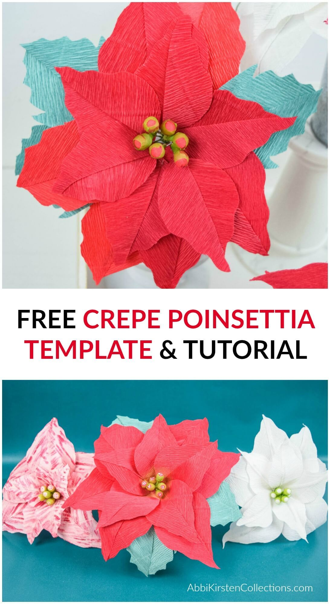 Crepe Paper Poinsettia Flowers Free Poinsettia Template And Tutorial In 2020 Paper Flower Decor Paper Flower Supplies Paper Flowers Craft
