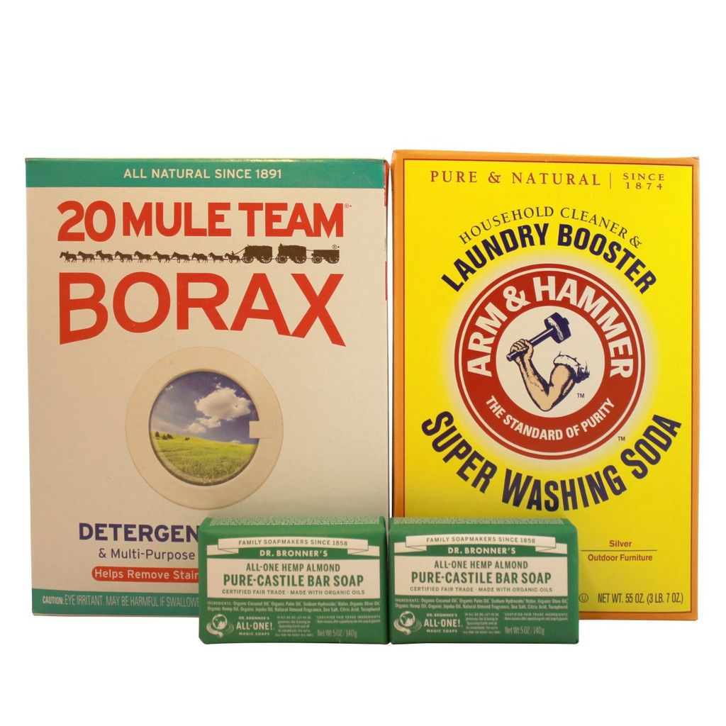 Laundry Soap Kit Dr Bronner Pure Castile Almond Bar Soap Borax