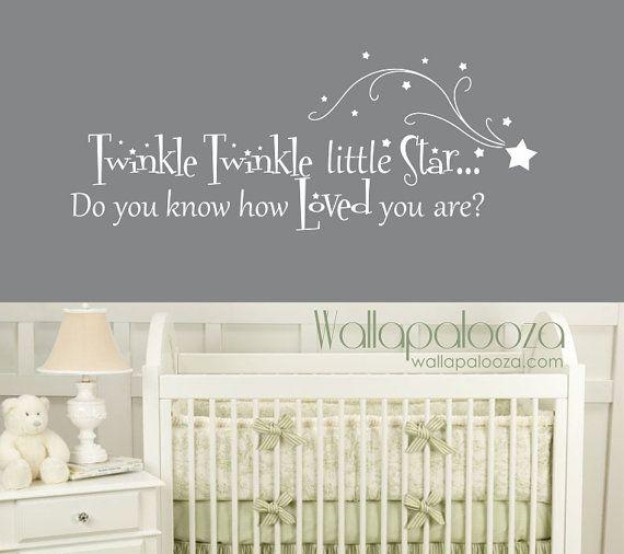 Twinkle Twinkle Little Star Wall Decal Nursery Wall Decal Baby - Nursery wall decals stars