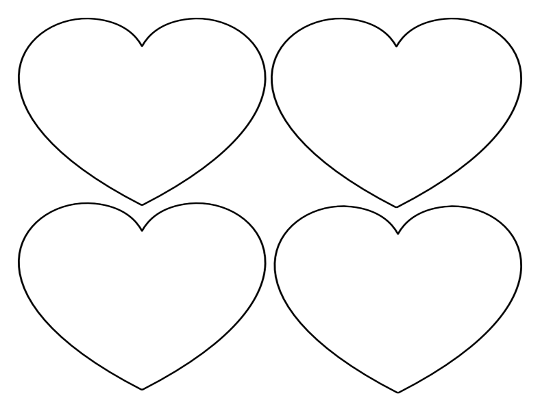 Free printable heart templates large medium small stencils to free printable heart templates large medium small stencils to cut out pronofoot35fo Images