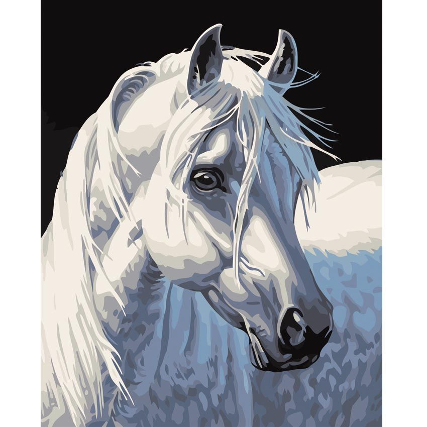 Cheap Painting Techniques Living Room Horse DIY By Numbers Wall Art Picture Canvas For