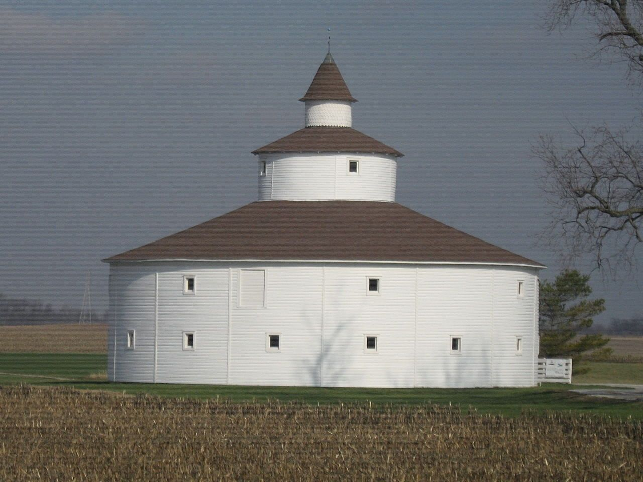 Strauther Pleak Round Barn in Decatur County, Indiana