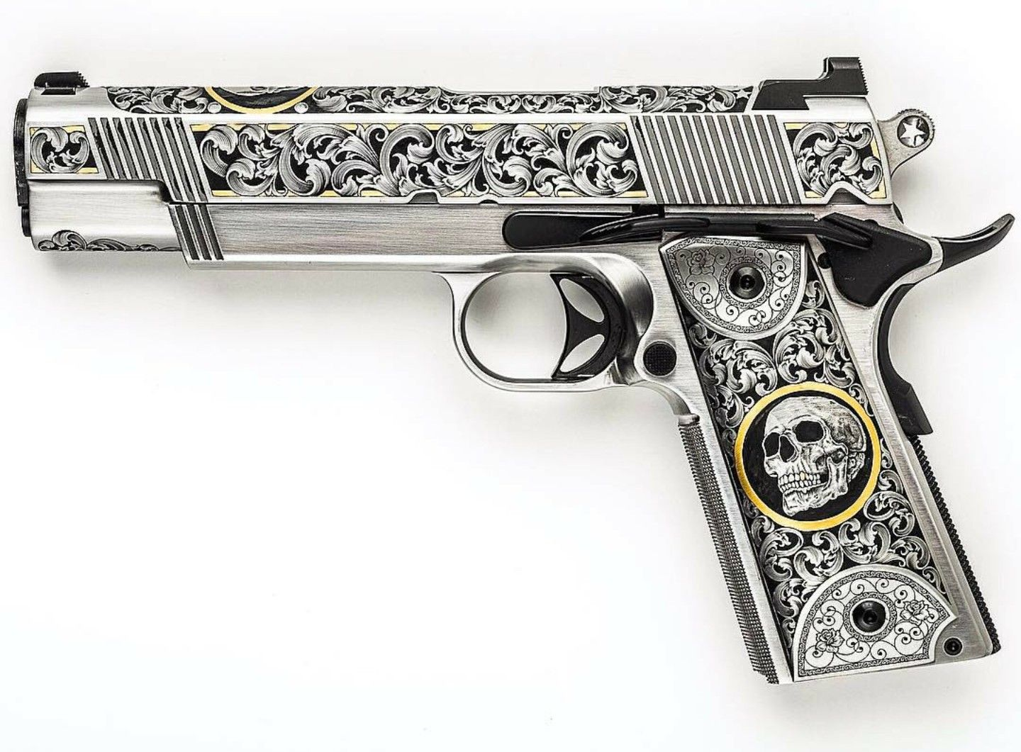 Jesse James Firearms Skulls Cisco 1911 Especial Guns Guns Handgun Pretty Guns