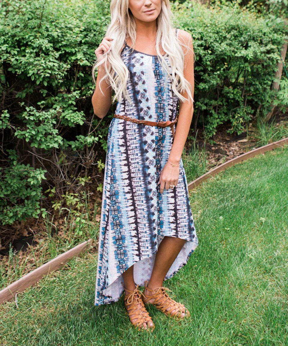 Love this Blue & Purple Tie-Dye Hi-Low Maxi Dress - Plus Too by Bella Ella Boutique on #zulily! #zulilyfinds