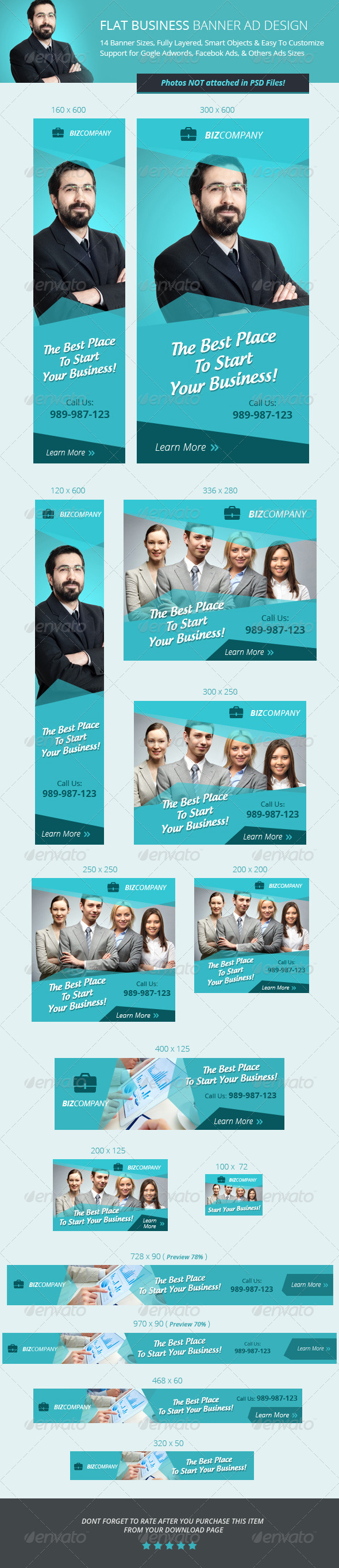 flat business banner ad design flats ad design and mobile web flat business banner ad design template psd buy and
