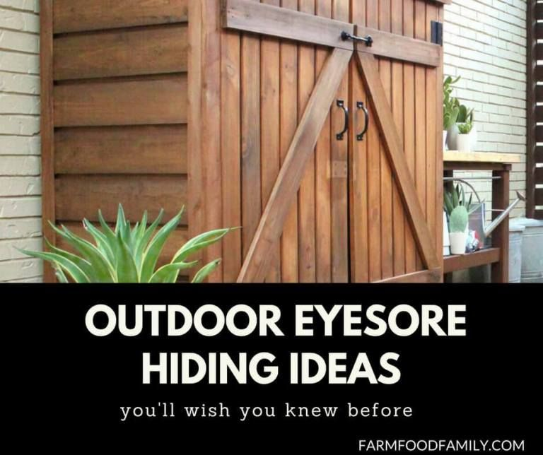 23+ Awesome DIY Outdoor Eyesore Hiding Ideas To Beautify