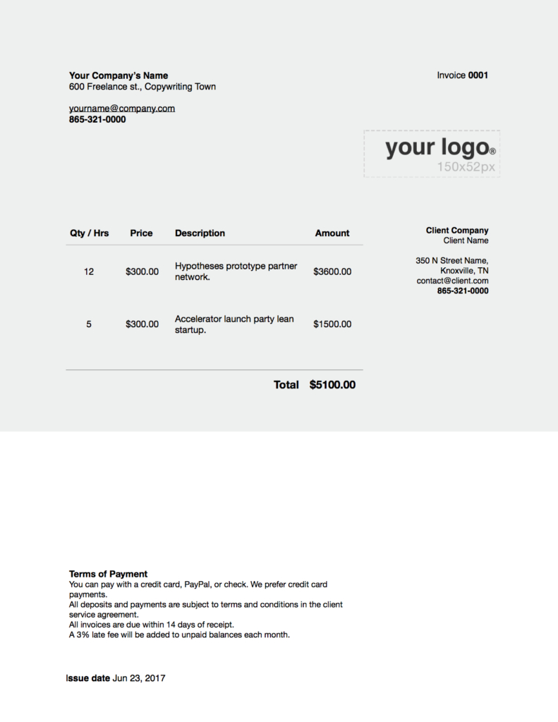 Freelance Writer Invoices Word X Invoice Template With Written Invoice Template 10 Professional Templat Invoice Template Invoice Template Word Grant Writing