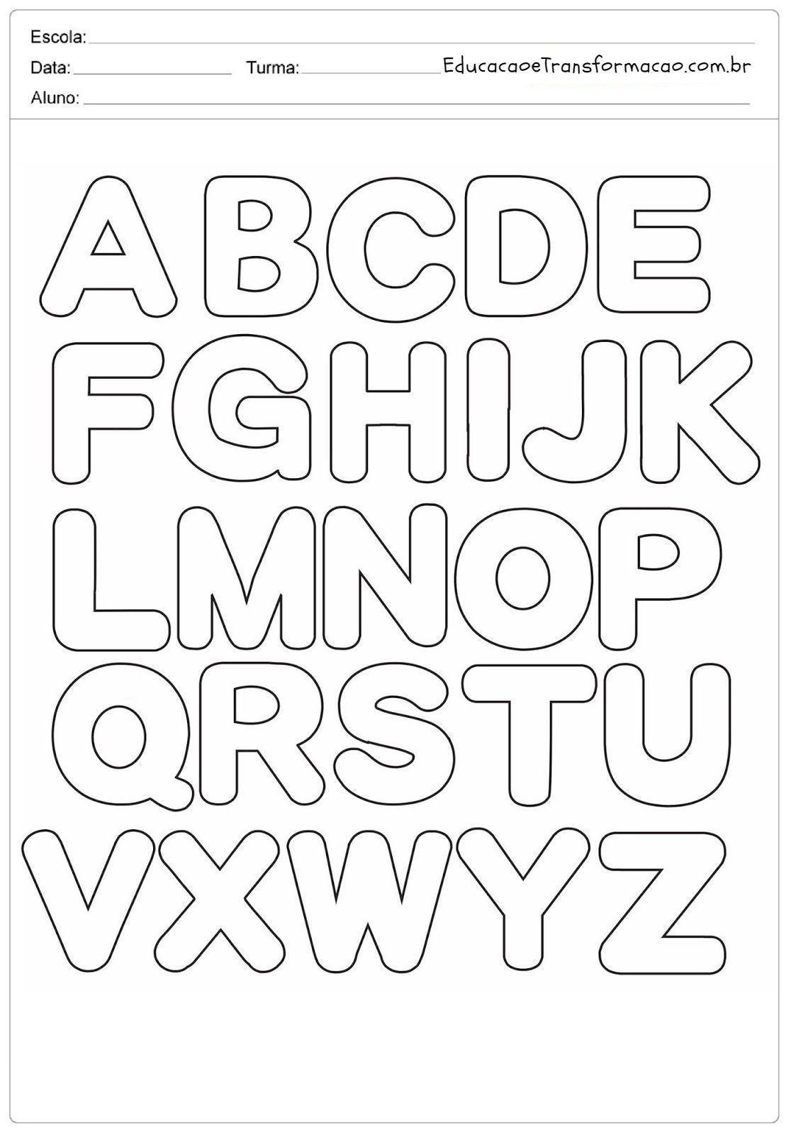 Moldes de Letras para imprimir - Letras do Alfabeto: Cursivas e ...
