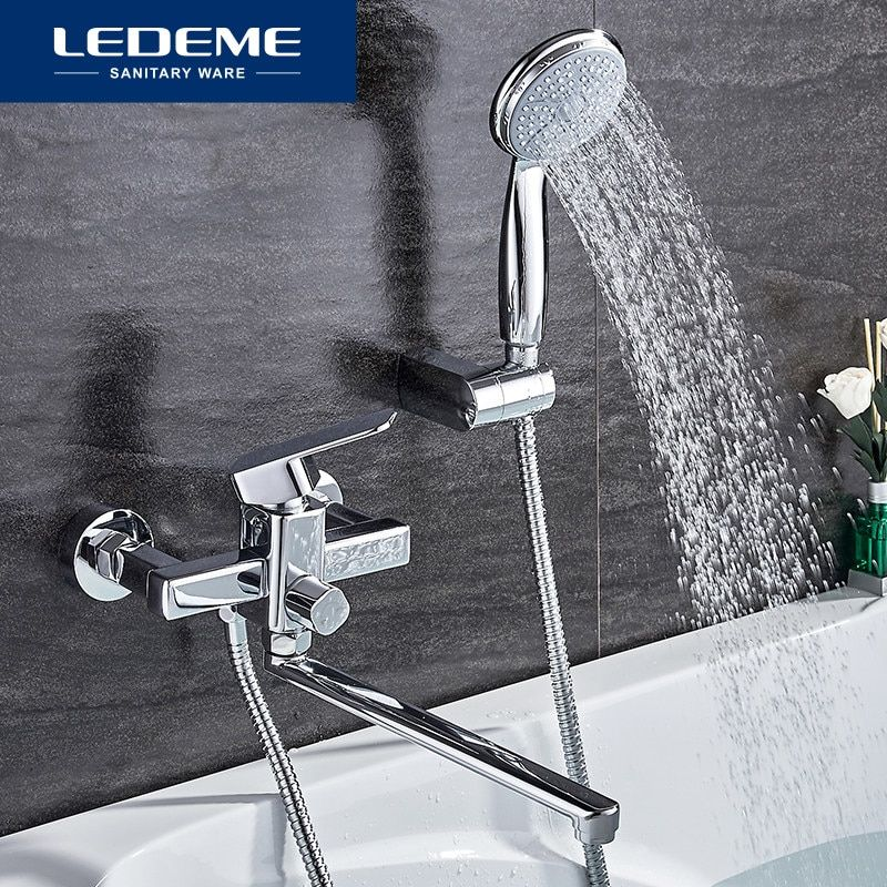 Ledeme Shower Faucet Set Bathroom Brass Bathtub Shower Faucet Bath