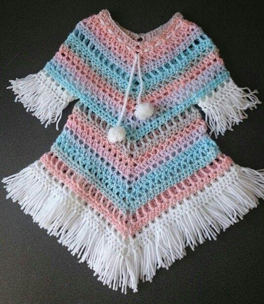 Boho tunic | ponchos de crochet | Pinterest | Ponchos, Ponchos de ...