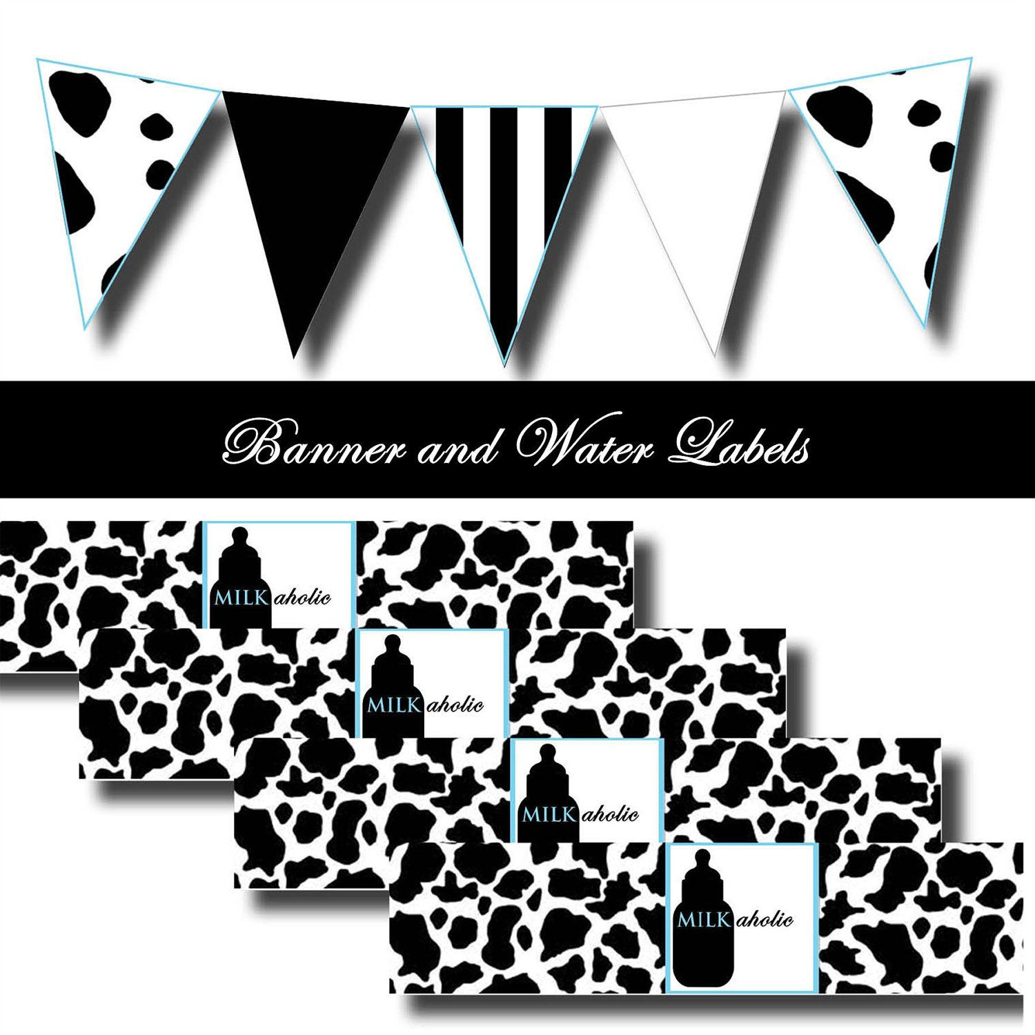 COW Print Baby Shower Pack - GOT MILK Inspired Printable ...