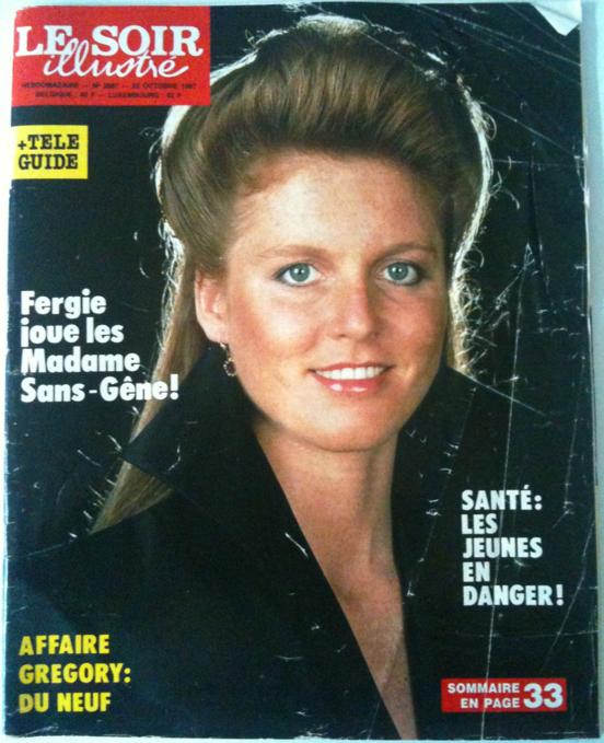 Sarah Ferguson Le Soir illustré du 22/10/1987 Sarah