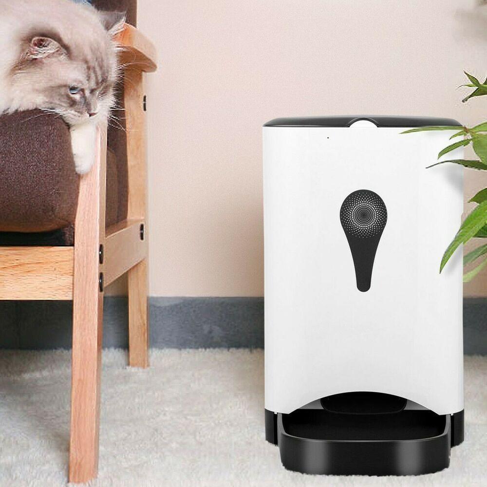 Automatic pet feeder for dog cat food dispenser large